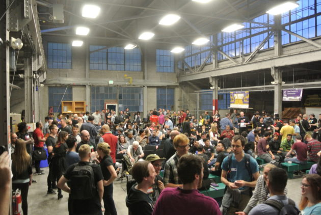 Last weekend's hackathon drew 180 contestants and almost 500 attendees, making it the largest VR hackathon in Seattle to date. Photo: Booz Allen Hamilton.