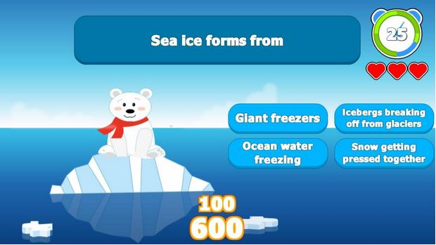 """EarthGames' """"EcoTrivia: Save the Animals!"""" employs cute animals to convey climate facts."""
