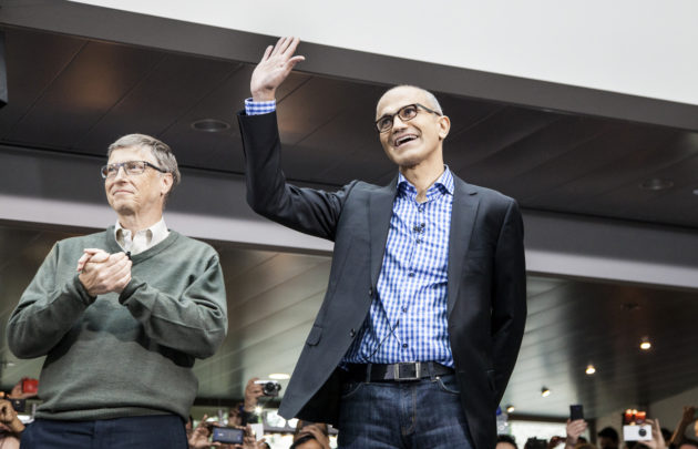 Bill Gates and Satya Nadella.
