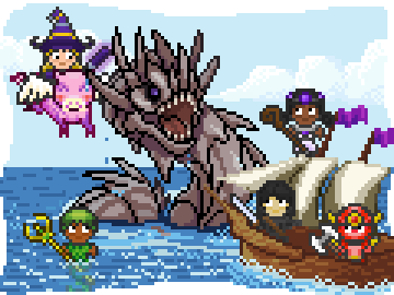 Users can join parties to fight monsters with friends. Photo: Habitica.