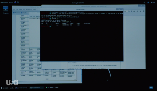 Figure 3: Elliot's sending an e-fax to NYPD.