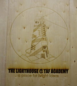 The TAF Academy's design and engineering class created this logo.