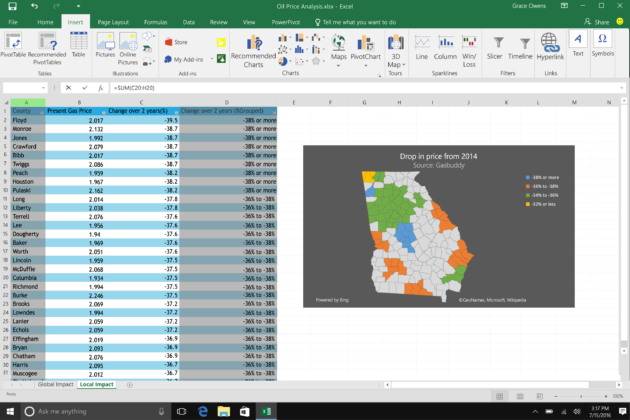 Ediblewildsus  Fascinating Microsoft Updates Office Apps With Excel Maps Powerpoint  With Handsome The Map Charts Are Powered By Bing Maps And Are Created With The Same Process Used To Create Line And Pie Charts While A New Feature For Excel It Appears  With Breathtaking Create Pdf From Excel Also Shortcut For Excel In Addition Sum Function On Excel And X Axis In Excel As Well As How To Solve Equations In Excel Additionally Excel And Or Function From Geekwirecom With Ediblewildsus  Handsome Microsoft Updates Office Apps With Excel Maps Powerpoint  With Breathtaking The Map Charts Are Powered By Bing Maps And Are Created With The Same Process Used To Create Line And Pie Charts While A New Feature For Excel It Appears  And Fascinating Create Pdf From Excel Also Shortcut For Excel In Addition Sum Function On Excel From Geekwirecom