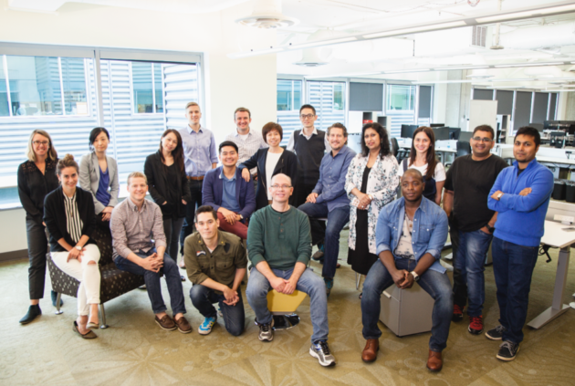 Representatives of the 10 startups selected to take part in Microsoft's Machine Learning Accelerator in Seattle. Credit: Microsoft.