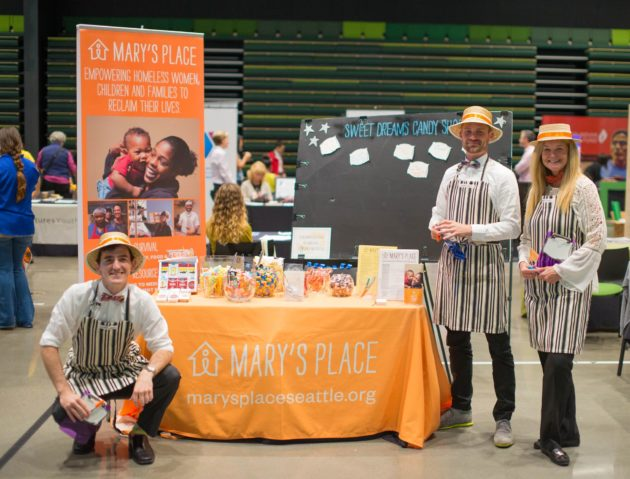 The nonprofit Mary's Place was a big draw at Amazon's Nonprofit Expo. (Amazon)