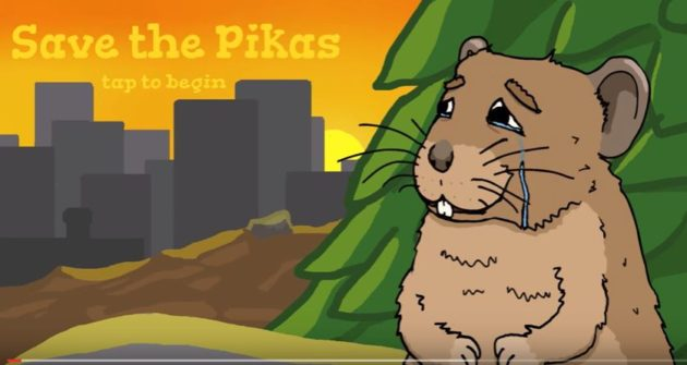 "EarthGames' ""Save the Pikas"" game is currently available in a beta version."