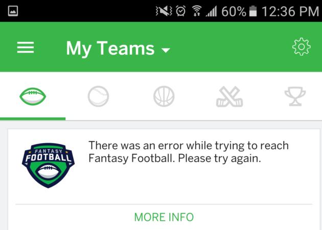 Users freak out as ESPN's fantasy football app, website go