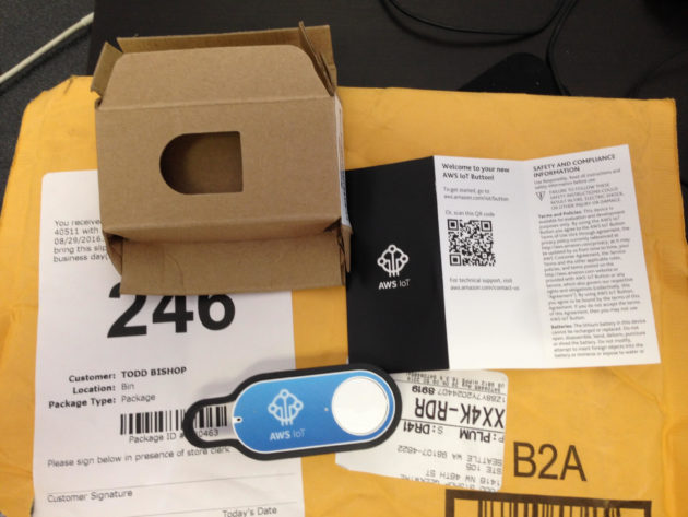 Unboxing the AWS IoT button, bursting with anticipation
