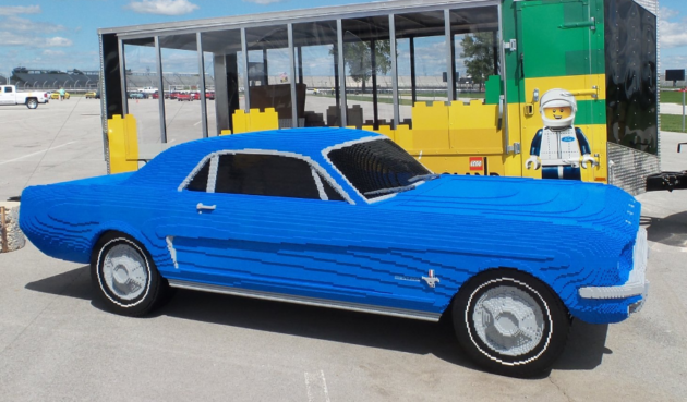 a true blue classic life size 1964 ford mustang built out of lego bricks geekwire. Black Bedroom Furniture Sets. Home Design Ideas