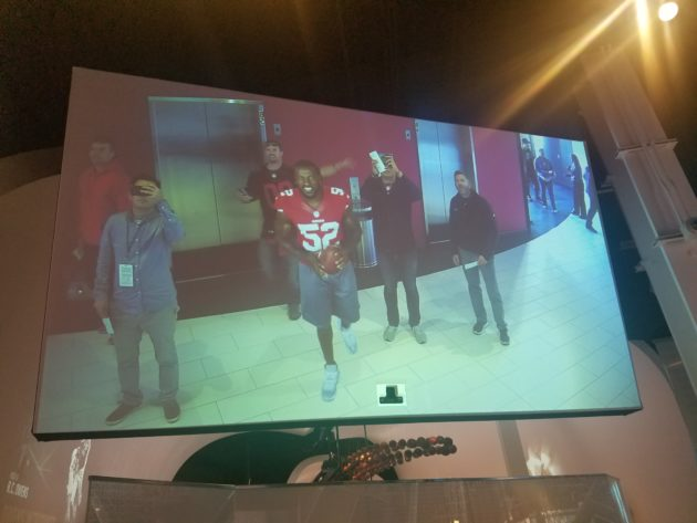 The 49ers museum, presented by Sony, features a players in augmented reality.
