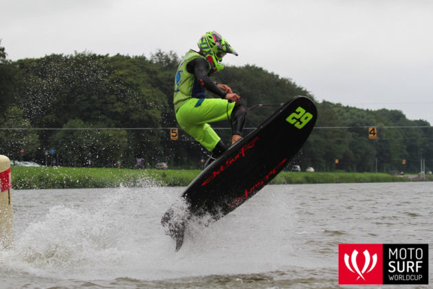 The JetSurf board is used in MotoSurf competitions. Photo via jetsurfny.com