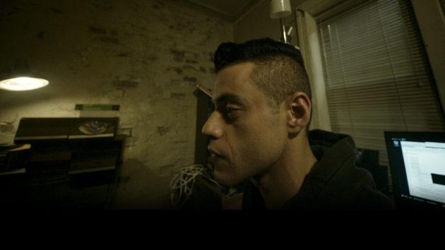 """Rami Malek as Elliott Alderson in """"Mr. Robot"""" Images via USA Network."""