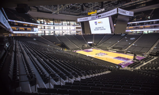 Golden 1 Center, featuring 84-foot wide screen and 44-foot end screens