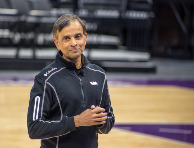 Kings Owner Vivek Ranadivé inside the Golden 1 Center this week.
