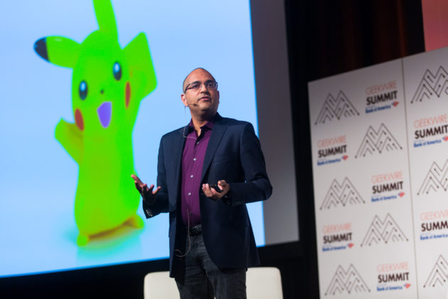 Vikram Jandhyala, VP for Innovation Strategy at The University of Washington. (Dan DeLong for GeekWire)