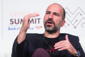 Expedia CEO Dara Khosrowshahi at the GeekWire Summit 2016. (GeekWire Photo by Dan DeLong)