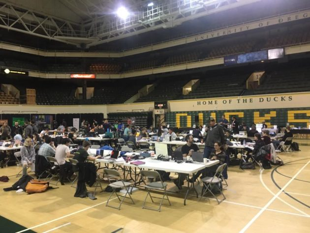 QuackCon attendees working hard at the University of Oregon this weekend. Photo via UO.