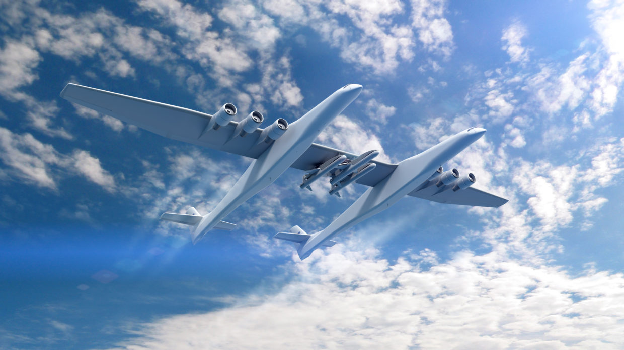 Image: Stratolaunch with Orbital ATK Pegasus XL rockets