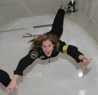 Brooke Owens on zero-G flight