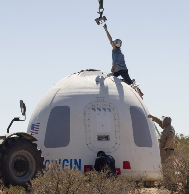 Blue Origin New Shepard capsule