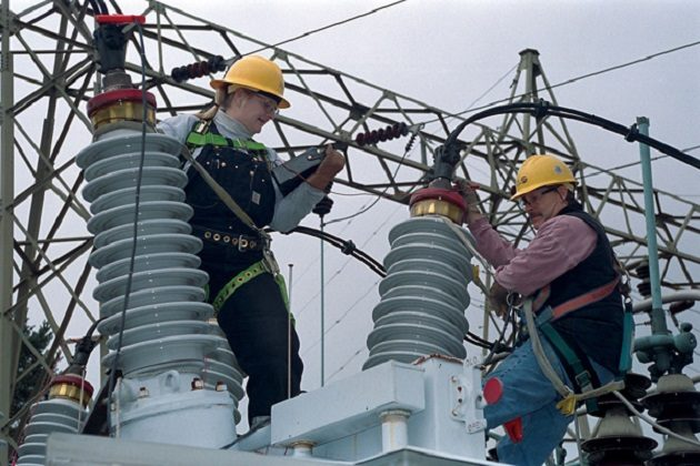 Seattle City Light workers