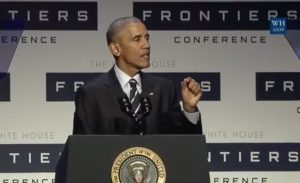 Barack Obama at Frontiers Conference