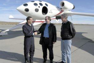 Binnie, Allen and Rutan in 2004