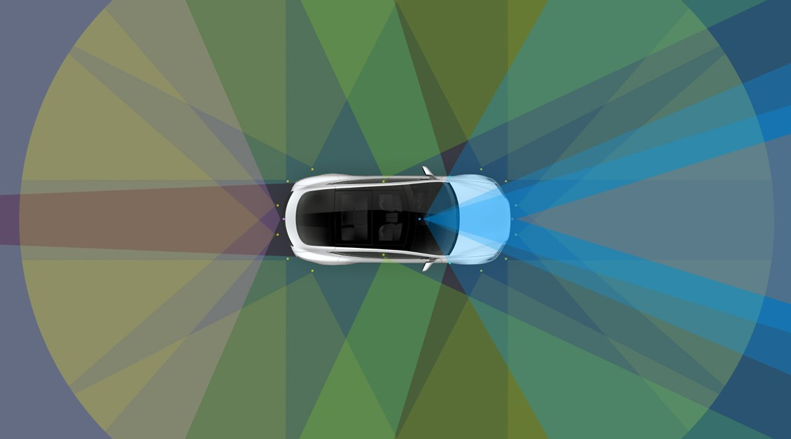 Watch Tesla's new completely self-driving cars in action