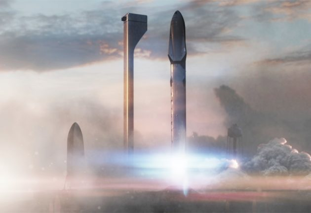 SpaceX Interplanetary Transport System liftoff