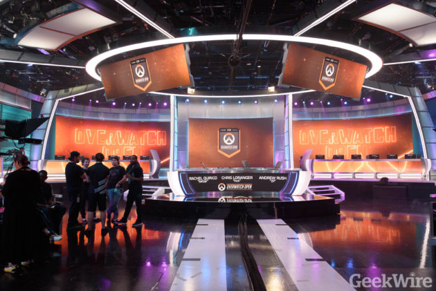 The ELEAGUE studio at Turner Broadcasting HQ in Atlanta, Ga. Photo by Kevin Lisota / GeekWire.