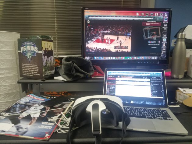 Watching the Spurs vs. Kings game in VR; streaming the Clippers vs. Blazers game via TNT; drafting my fantasy basketball team on Yahoo. Welcome to NBA consumption, 2016.