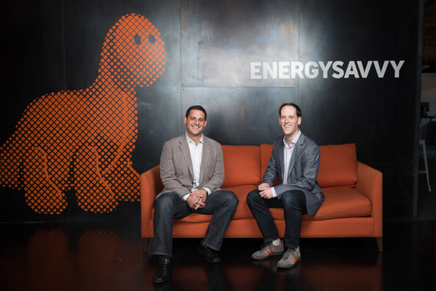 EnergySavvy co-founder and CEO Aaron Goldfeder (left) and COO Scott Case. (EnergySavvy photo)