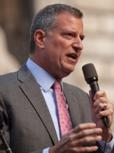 New York Mayor Bill de Blasio. Photo: Kevin Case via Wikipedia.