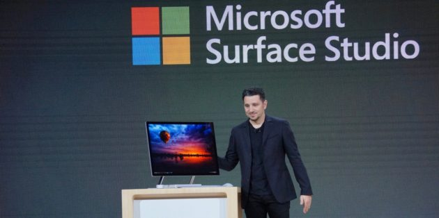 Microsoft devices chief Panos Panay with the new Surface Studio
