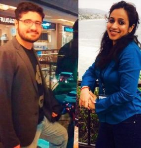 Facecrop team Jumana Karwa and Saurav Tomar.
