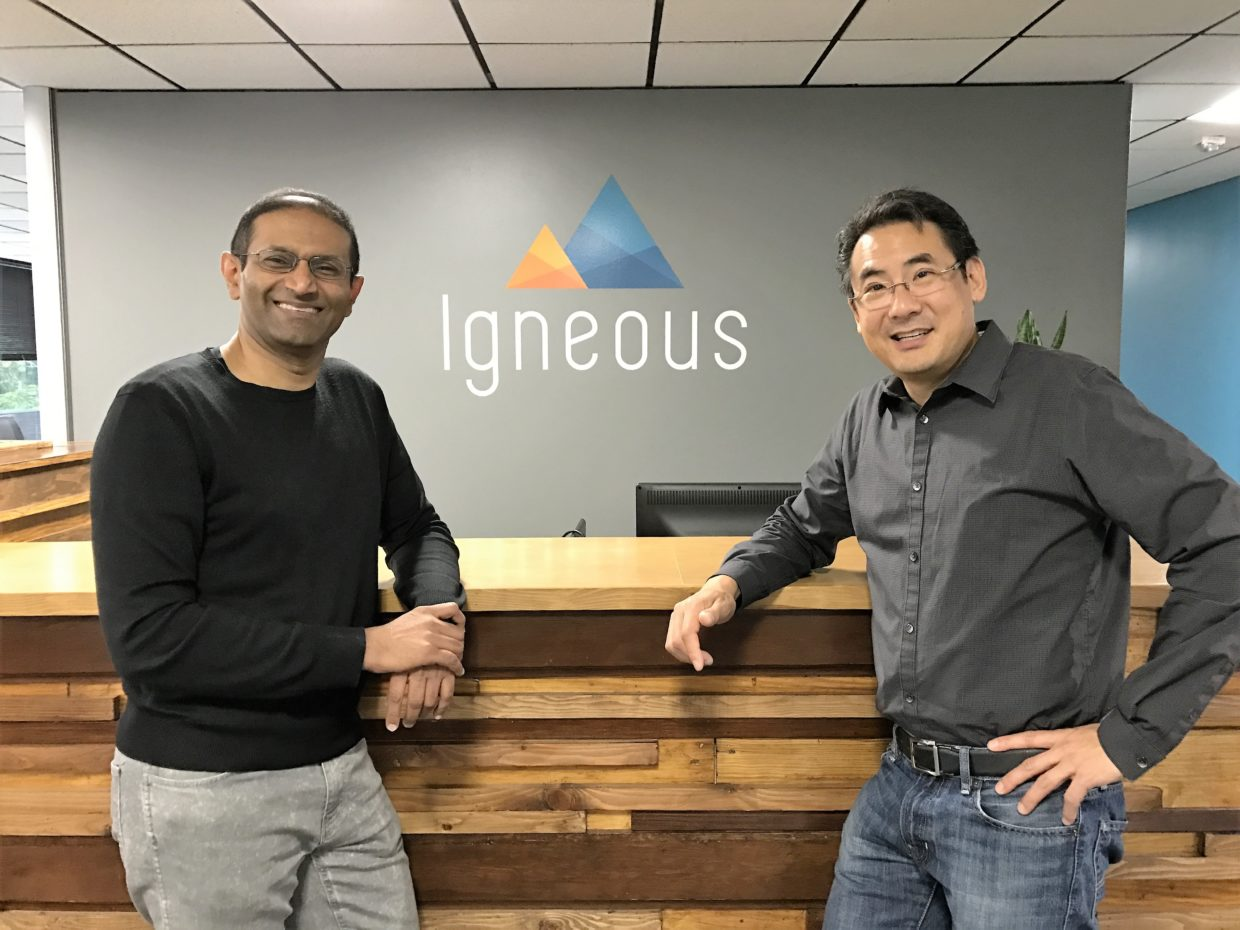 Igenous CEO Kiran Bhageshpur (left) and Chief Marketing Officer Steve Pao.
