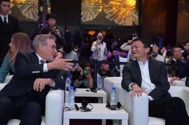 Alibaba Executive Chariman Jack Ma and Amblin Partners' Steven Spielberg. Credit: Alibaba