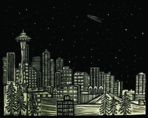 Seattle Skyline, by Jennifer Ament.