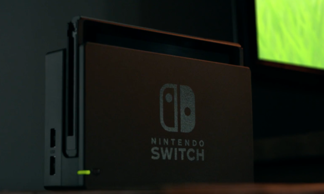 A look at the Nintendo Switch console.