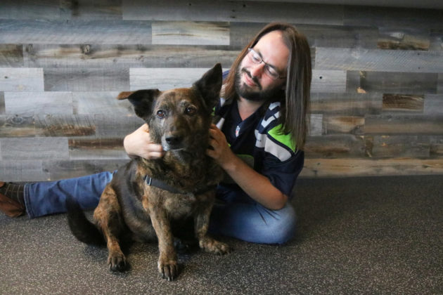Trupanion Chief Data Scientist with his dog Lily.