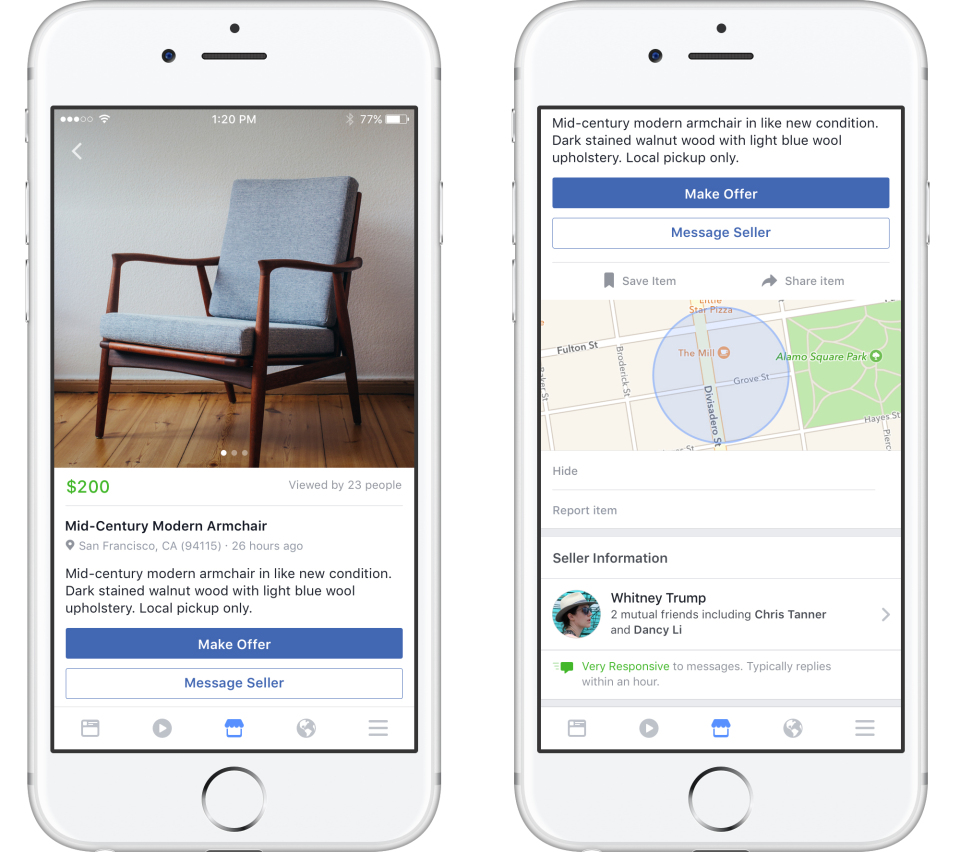 Facebook officially launches 'Marketplace,' taking aim at