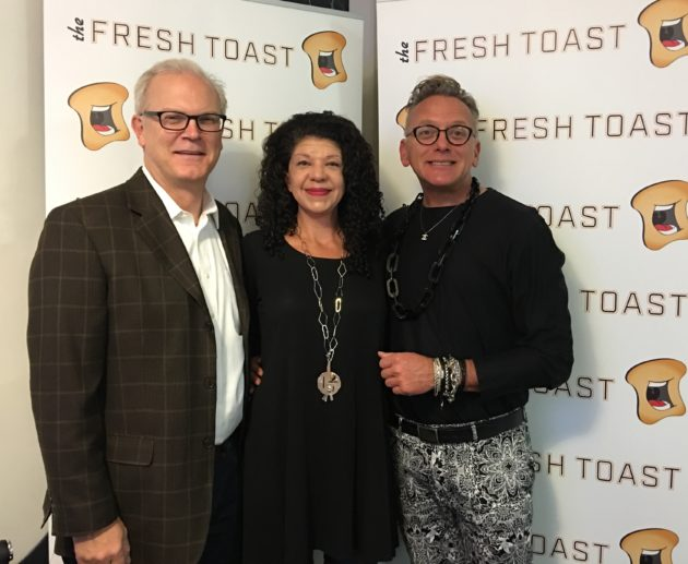The Fresh Toast President and COO Eric Snow, Editor-in-chief Kelly Barbieri, and Founder and Publisher JJ McKay at the launch party in New York City.