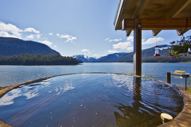 PICTURED ABOVE: Hidden Bay Retreat located on Admiralty Island just south of Juneau, Alaska is clearly not in the San Juan Islands but this architectural masterpiece is offered below replacement costs at $3.85 Million and is surrounded by a National Monument and some of the most extraordinary natural scenery and wildlife anywhere on the planet.