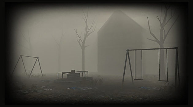 a still from the spooky slender rising mobile game