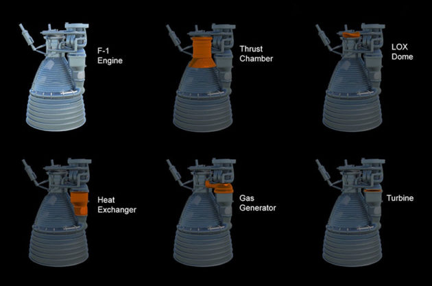 F-1 engine components