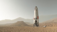 Daedalus spaceship on Mars