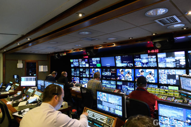 ESPN Monday Night Football production truck