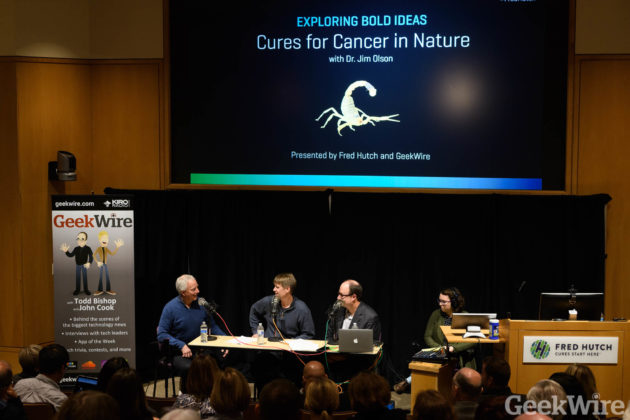 GeekWire podcast at Fred Hutch - Dr. Jim Olson