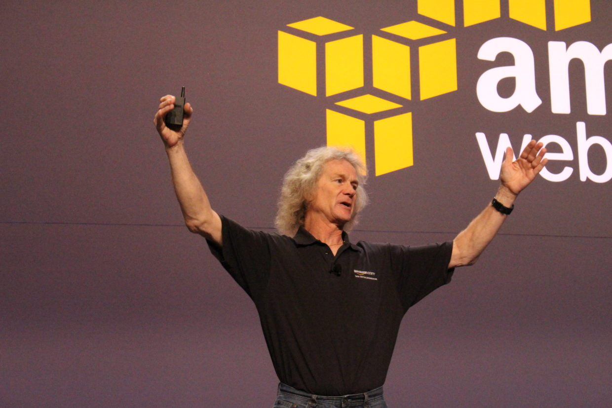 amazon web services introduces partner programs for alexa iot and james hamilton an aws vp and distinguished engineer speaks at re invent 2016 in las vegas nov 29 2016