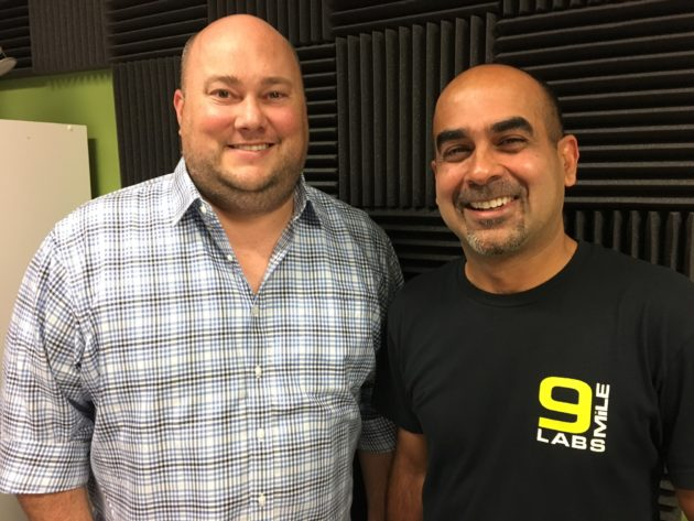 9Mile Labs co-founders Kevin Croy and Sanjay Puri.